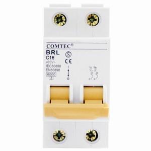 Intrerupator automat bipolar BRL 6kA MCB t