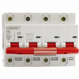 Interruttore automatico tetrapolare HBC 10kA MCB MA